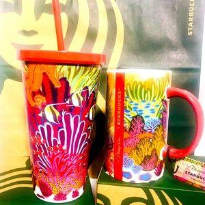 Starbucks Cold Cup and Mug